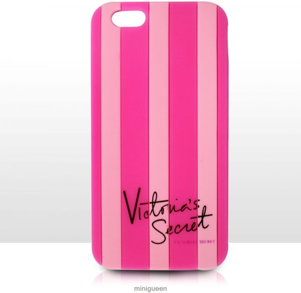 best service ee019 d705a Victoria Secret Case Stripe Cover for iPhone 6 (Rose / Pink strips )