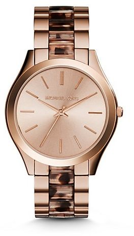 92fa29234c5b ... Runway Women s Rose Gold Dial Stainless Steel Band Watch - MK4301. by Michael  Kors