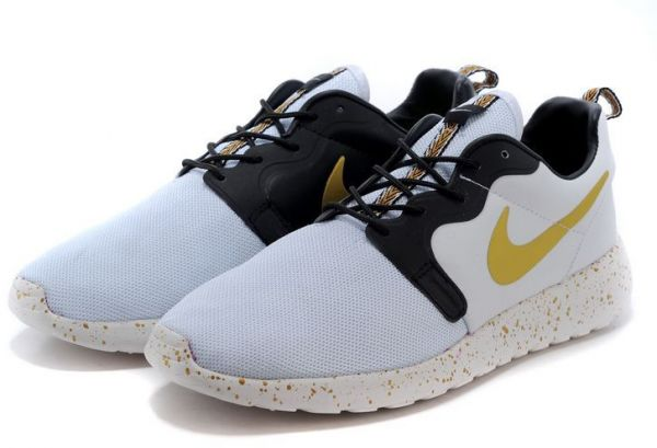 7327f74cb3c3 Nike Roshe Run Hyperfuse 3M Nets White Black Gold SIZE EU 43