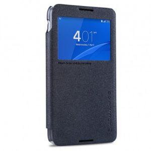 Nillkin Sparkle Leather Sview Cover For Sony Xperia E4 / Gray