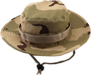 3063b1ea1db Bucket Hat Boonie Hunting Fishing Outdoor Cap - Wide Brim Military Boonie Hat  desert