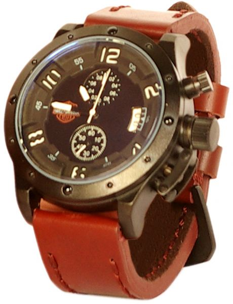 harley davidson men s leather wrist watch f244g brown review and this item is currently out of stock