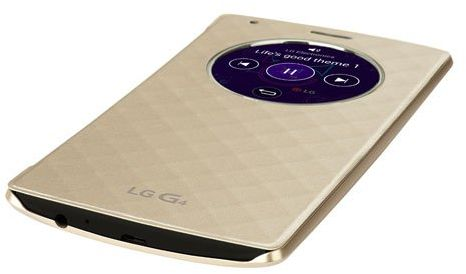 release date: 8ca25 2a66e Rubik Exclusive LG G4 Quick Circle Folio Case Slim Leather Flip View Cover  - Gold