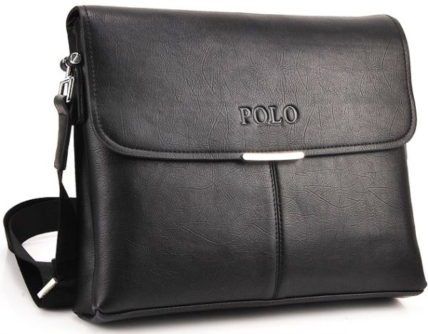 Videng Polo Messenger Bag for Men - Leather, Black   Souq - UAE e9ac506d78