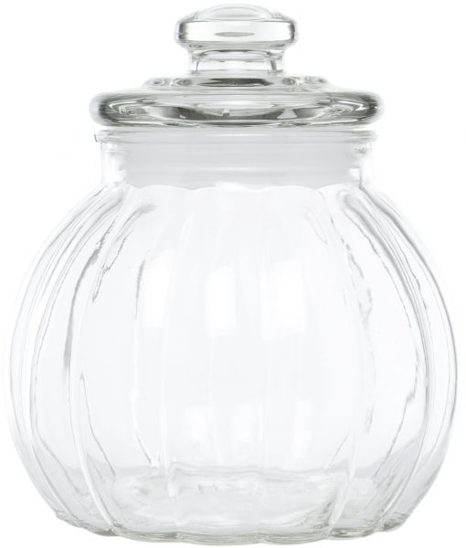 Claro Round Gl Jar With Lid 75 Liter Clear