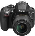 Nikon D3300 - 24.2 MP, SLR Camera, Black, AF S DX Nikkor 18 - 55mm f/3.5 to 5.6 G VR II Lens Kit (Digital Camera)