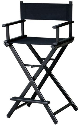 Maylan Aluminium Portable Director/Makeup Artist Chair   Black