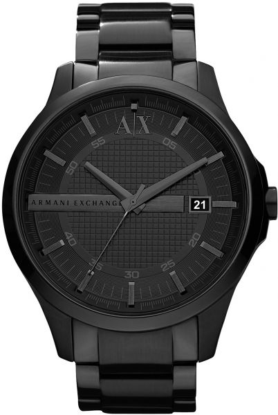 e9e7f8c9d59 Armani Exchange Hampton Men s Black Dial Stainless Steel Band Watch -  AX2104