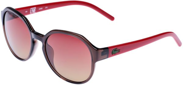 457918453f Lacoste Round Women s Sunglasses - Brown Red L642S 210 -54 -19 -135 ...