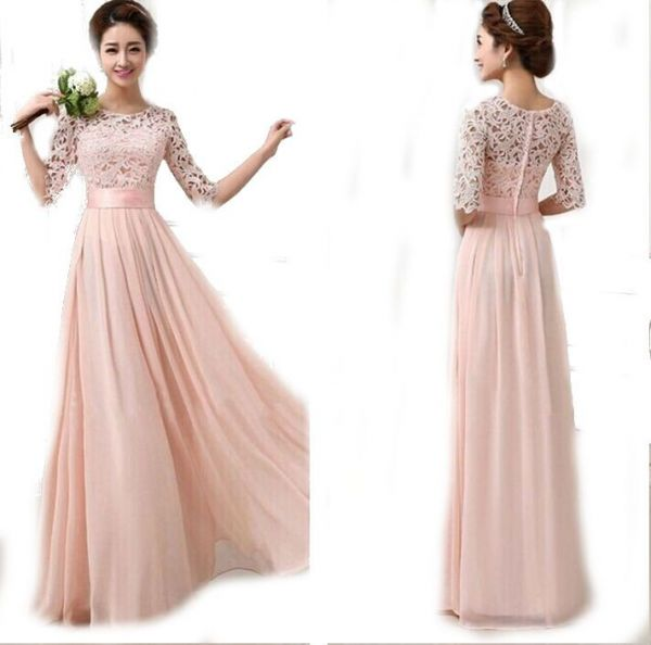 Las Women Fashion Evening Dress Wedding Clubwear Party Night Out Light Pink