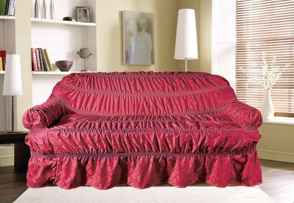 knight bridge cotton jacquard check red sofa cover souq uae rh uae souq com ikea red sofa covers red sofa cushion covers