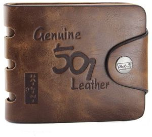Mens Genuine Leather Bifold Wallet - Style 501H b72ec2a20c13f