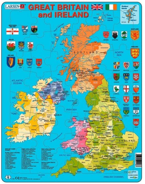 Political Map Of Great Britain.Larsen Great Britain And Ireland Political Map Puzzle Souq Uae