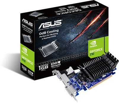 Asus EN210SILENT/D1/1GD3 NVIDIA GeForce 210 1GB DDR3 Graphic Card