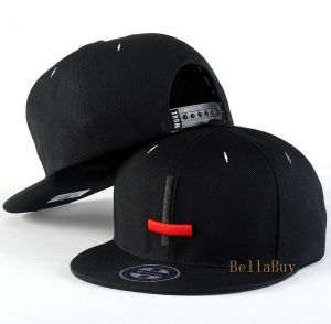 newest dfcb8 303fb Printing simple hat baseball cap hip-hop cap(black)