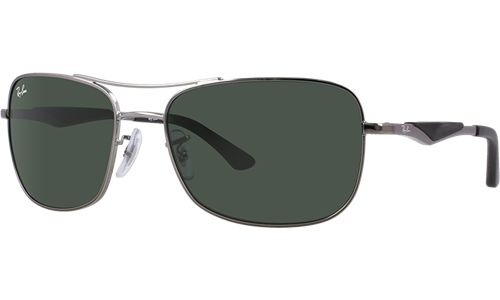 c95059cd65 Ray-Ban Sunglasses RB 3515 004 71 Gunmetal   Green Lens