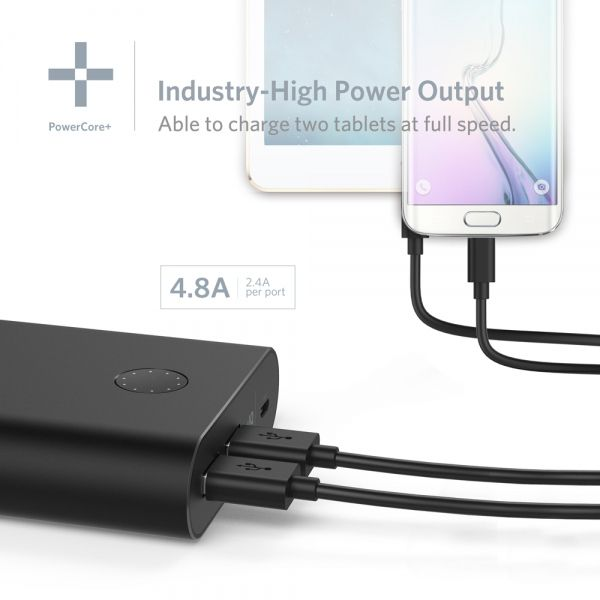 Anker PowerCore Plus 13400 Recharges 2X Faster than Normal Portable Chargers with 4.8A Output