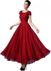 9ada4718a1 Red Formal Long Women Evening Party Cocktail Prom Wedding Office Home Dress