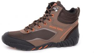 Double Safety Brown Athletic Boot For Men