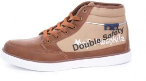 Double Safety Work Shoes, Safety & Cool, Brown ,MDL SHHM3334