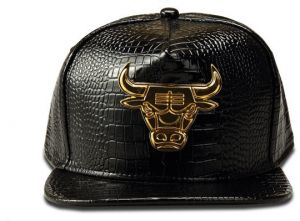 Crocodile grain baseball cap bull alloy cap Men and women leather hip hop  hat 1553c70d333b