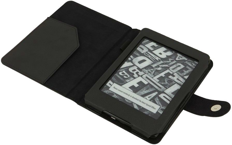 Leather Wallet Book Style Case Cover For Amazon Kindle Paperwhite 6-Inch Black