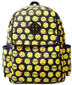 Canvas Backpacks Smiley Emoji Face Printing School Bags For Teenagers Girls  and kids Shoulder Bag 4c5e3671b0fc9