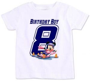 Mickey Mouse With Birthday Boy 8 T Shirt