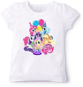 My Little Pony With Party Birthday T Shirt 6 To 7 Years