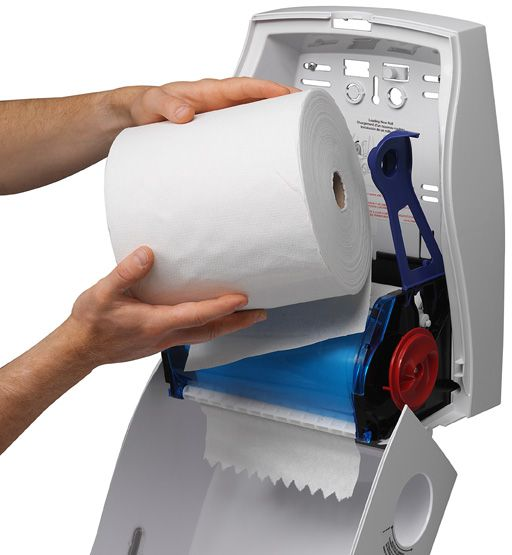kleenex no touch hand towel dispenser roll white