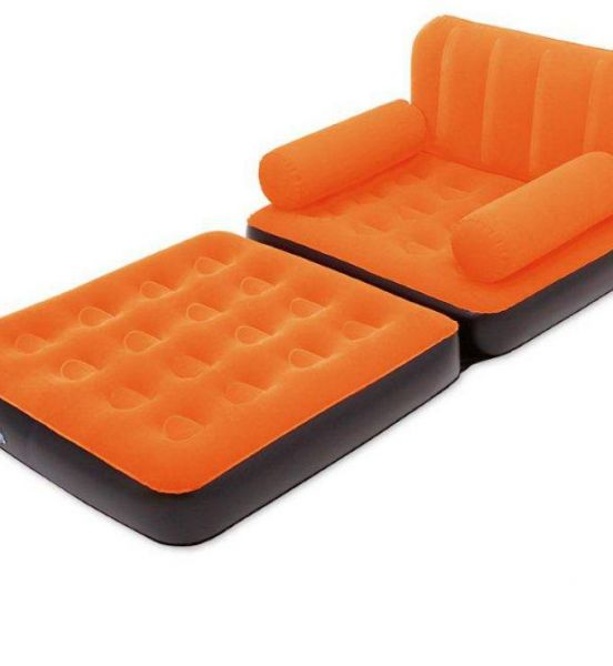 Price review and buy bestway 5 in 1 air bed sofa orange for Sofa bed jeddah