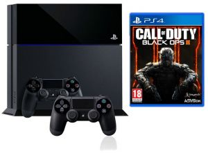 6f26b9c95 Sony PlayStation 4 500GB Standard Edition + Extra Controller + Call Of  Duty: Black Ops III
