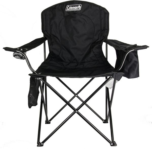 Superbe COLEMAN Camping Outdoor Oversized Quad Chair Cooler With Cup Holder