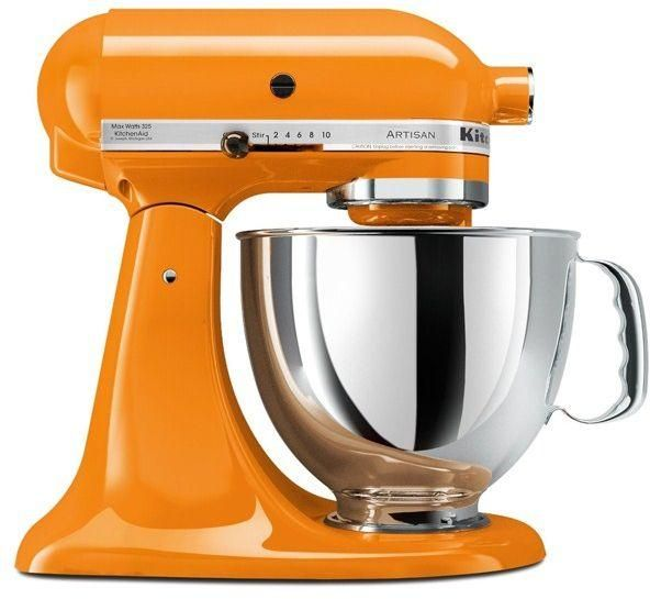 Kitchenaid 4 8l Stand Mixer With Hub 300w Tangerine Orange 5ksm150psbtg