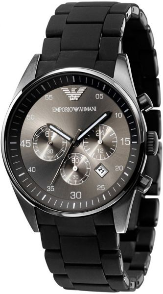 b2282c64f2a Emporio Armani Sportivo Men s Black Dial Stainless Steel Band Watch - AR5889