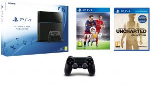 df1a14a59 Sony Playstation 4 1TB Ultimate Player Edition + Extra Controller + FIFA 15  + Uncharted Collection