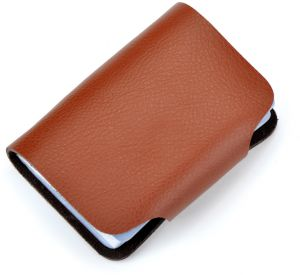 2e43496aeac5 Fashion Business Credit Card Holder Leather Strap Buckle Bank Card Wallet  Bag 26 Card Case ID Holder