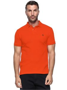 Polo Ralph Lauren Custom Fit Short Sleeve Mesh Polo Shirt For Men - Small,  Orange