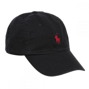 e65f4f1ae Polo Ralph Lauren Signature Pony Cap with Leather Buckle Strap for Men,  Black