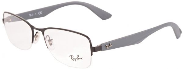 d209ac43e71 Ray Ban Square Semi Rimless Frames for Unisex - Brown