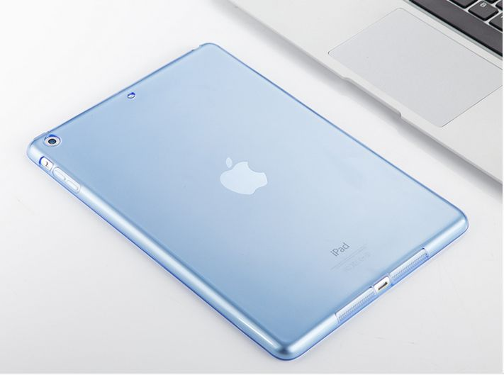 High Grade soft silicone cover ultra thin blue Transparent shockproof Back Cover for iPad Pro12.9