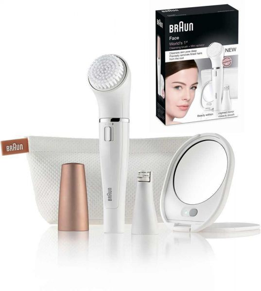 braun face se831 mini epilator cleansing brush beauty edition review a. Black Bedroom Furniture Sets. Home Design Ideas