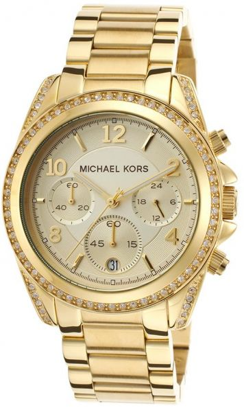 02ff552d1e64 Michael Kors Blair Gitz Watch for Women - Analog Stainless Steel Band -  MK5166