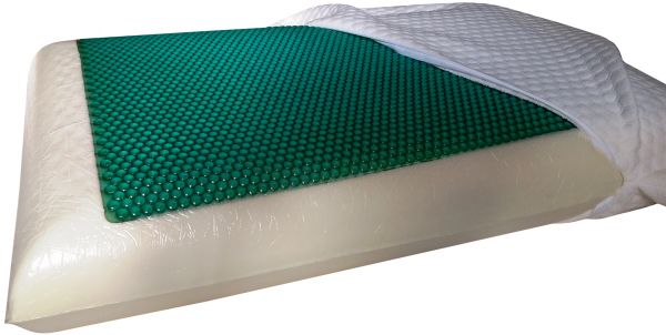 health care natural latex foam pillow with cool gel memory by horus