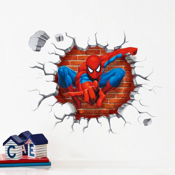 3d spiderman wall stickers for kids rooms decals home decor kids