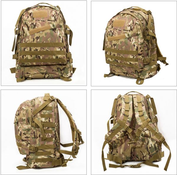 67c1415e2a 40L Molle 3D Tactical Outdoor Military Rucksack Backpack Bag Camping Hiking  CP Camouflage Color