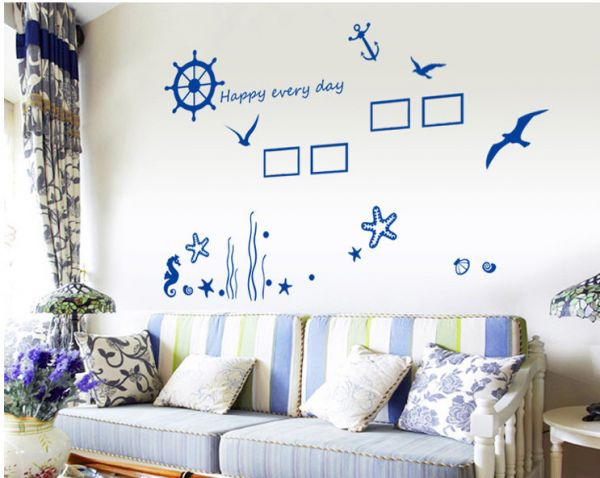 Souq | Marine organism Removeable DIY Wall Sticker Home Decor Decal ...