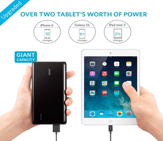 بطارية انكر Anker Astro E7 Ultra-High Capacity 26800mAh 3-Port 4A