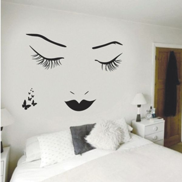 Sexy Girl Lip Eyes Wall Stickers Living Bedroom Decoration Diy Vinyl Home Decals Mual Art Poster & Souq | Sexy Girl Lip Eyes Wall Stickers Living Bedroom Decoration ...