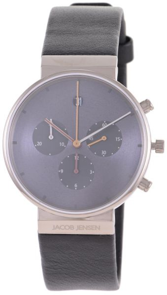 88cbdf3d7 Jacob Jensen Chronograph Men s Blue Dial Casual Watch Leather Strap - 605.  by Jacob Jensen